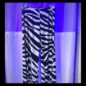 NEW Chico's zebra palazzo pants